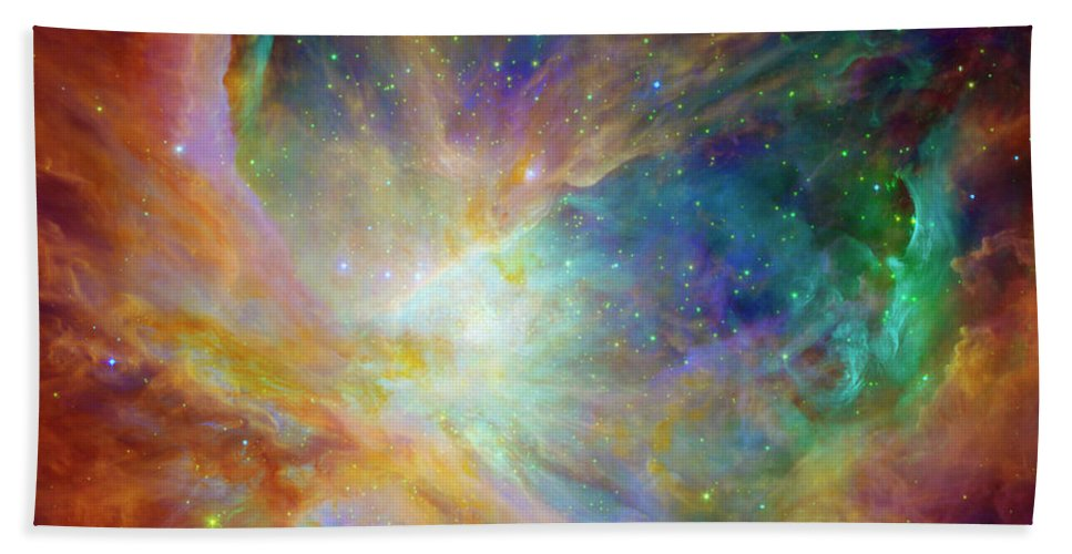 Universe Hand Towel featuring the photograph The Hatchery by Jennifer Rondinelli Reilly - Fine Art Photography