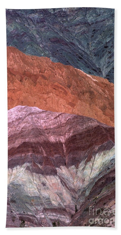 Argentina Bath Sheet featuring the photograph The Hill Of Seven Colors Argentina by James Brunker