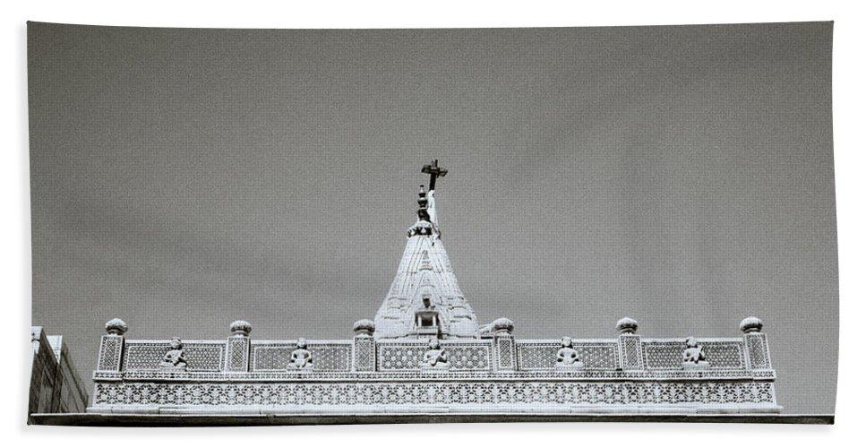 Religion Bath Sheet featuring the photograph The Hindu Temple by Shaun Higson