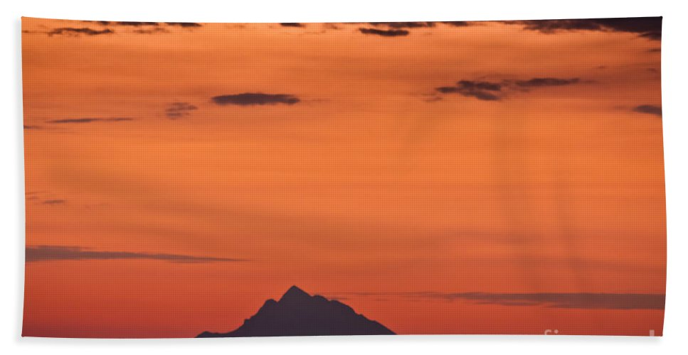 Landscape Bath Sheet featuring the photograph The Holy Mountain by Kamen Ruskov
