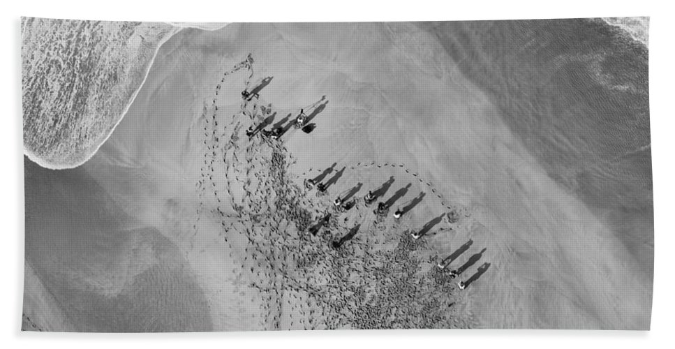 Above Hand Towel featuring the photograph The Hunters Hunted by Sean Davey