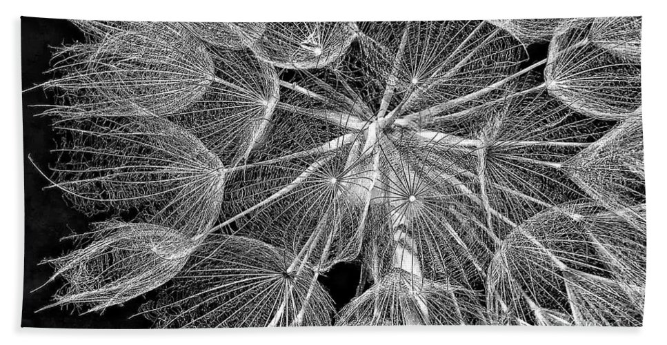Weed Bath Sheet featuring the photograph The Inner Weed Monochrome by Steve Harrington