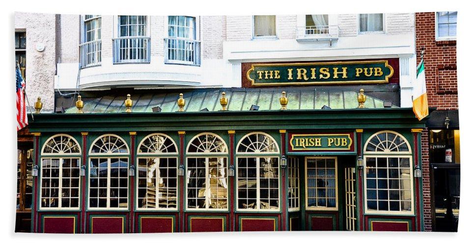 Irish Hand Towel featuring the photograph The Irish Pub - Philadelphia by Bill Cannon
