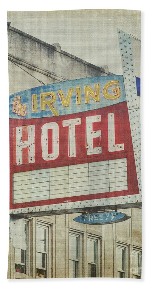 Irving Hotel Bath Sheet featuring the photograph The Irving Hotel In Chicago by Emily Kay