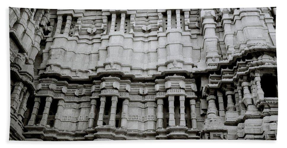 India Bath Sheet featuring the photograph The Jain Temple by Shaun Higson