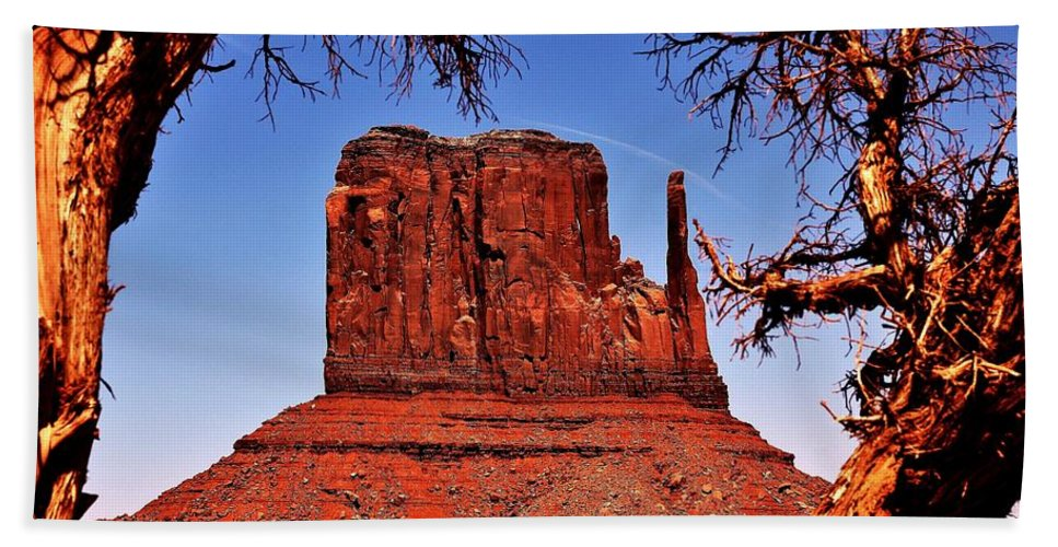Monument Valley Bath Sheet featuring the photograph The John Ford West by Benjamin Yeager
