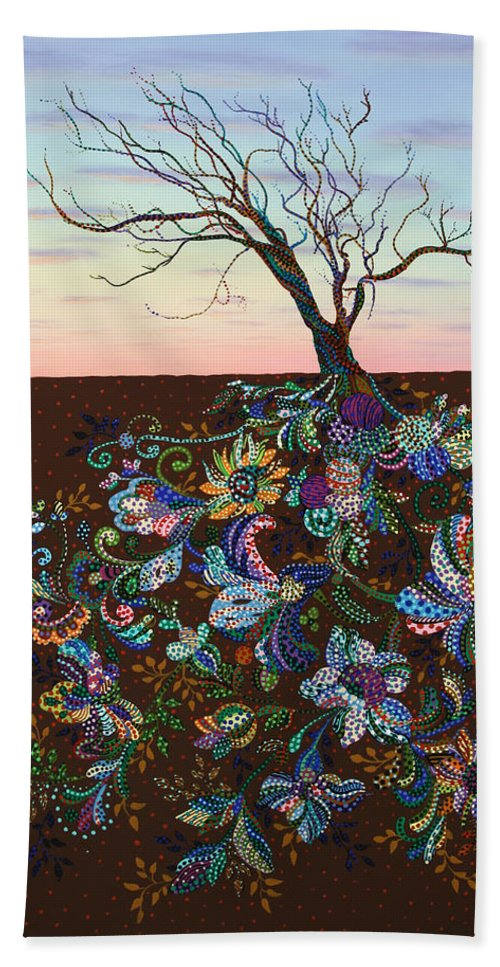 Tree Bath Towel featuring the painting The Journey by James W Johnson