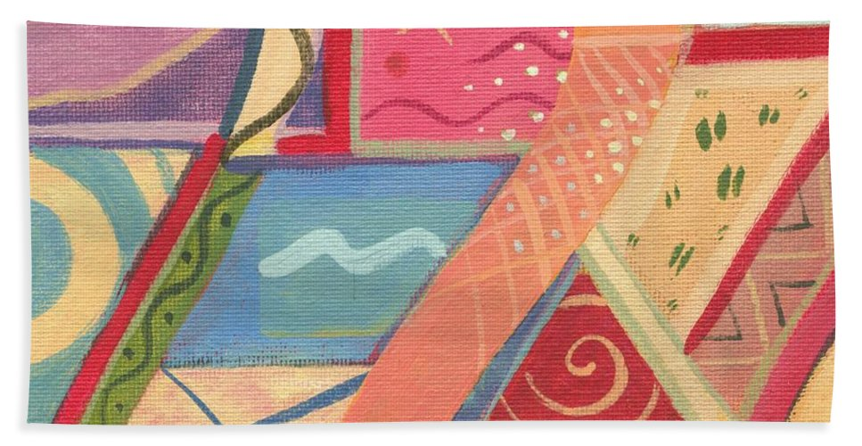 Nature Hand Towel featuring the painting The Joy Of Design X I X by Helena Tiainen