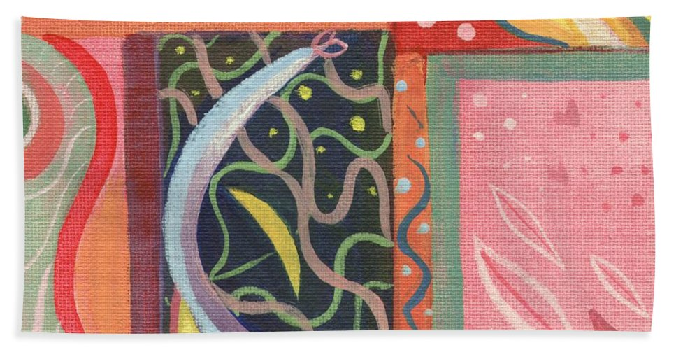 Nature Hand Towel featuring the digital art The Joy Of Design X V I Part 2 by Helena Tiainen