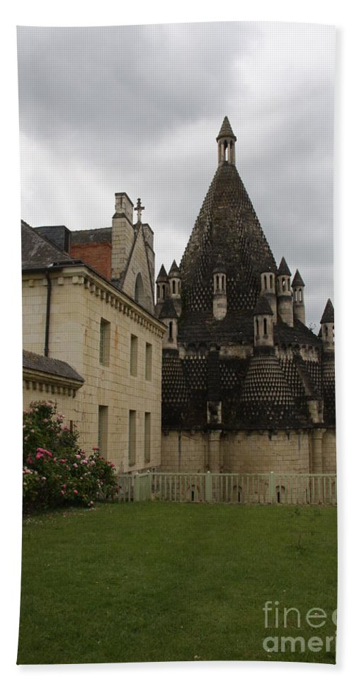 Kitchen Hand Towel featuring the photograph The Kitchenbuilding - Abbey Fontevraud by Christiane Schulze Art And Photography