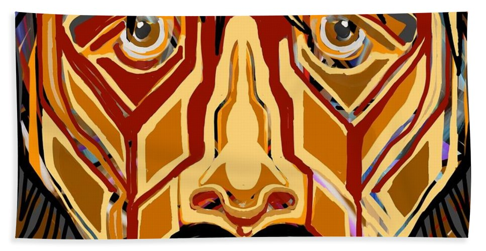 Jesus Hand Towel featuring the digital art They Know Not What They Do by Mannaah Blackwell