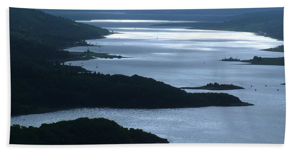The Kyles Of Bute Hand Towel featuring the photograph The Kyles Of Bute by Joan-Violet Stretch