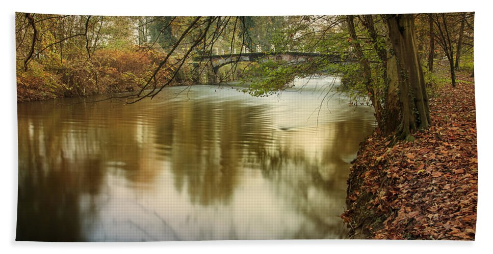 Monza Hand Towel featuring the photograph The Lambro River by Alfio Finocchiaro