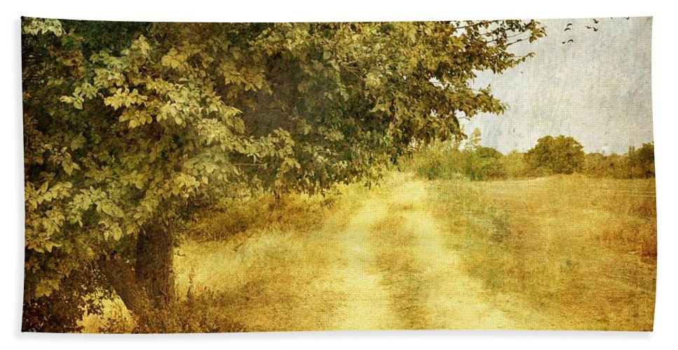 Rustic Landscape Bath Sheet featuring the photograph The Last Days Of Summer by Sonya Kanelstrand