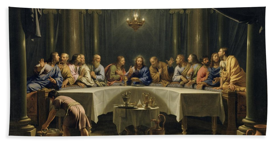 The Last Supper Hand Towel For Sale By Jean Baptiste De Champaigne