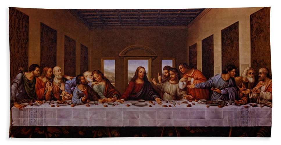 The Last Supper Hand Towel featuring the photograph The Last Supper by Jonathan Davison