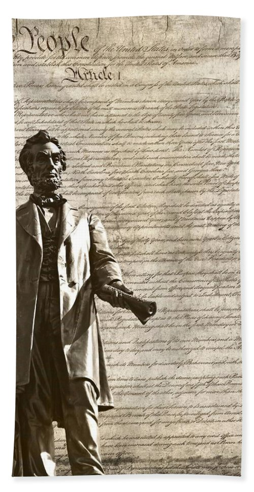We The People Bath Sheet featuring the photograph The Law by Dan Sproul