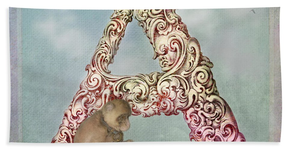 Letter Hand Towel featuring the digital art The Letter A by Terry Fleckney