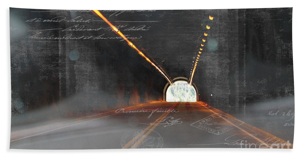 Light Hand Towel featuring the photograph The Light At The End Of The Tunnel by Janice Pariza