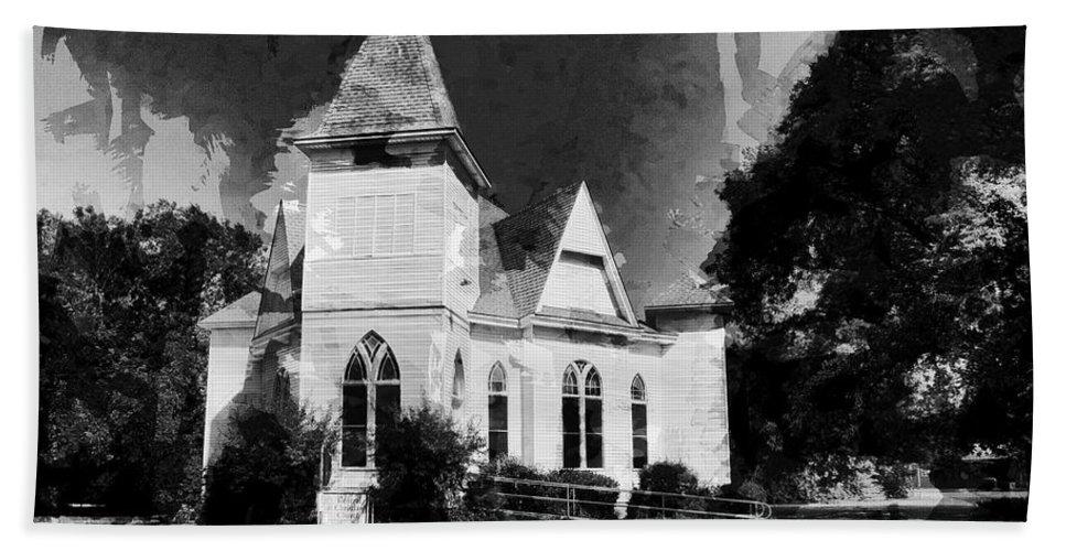 Little Bath Sheet featuring the photograph The Little Church On The Corner by Douglas Barnard