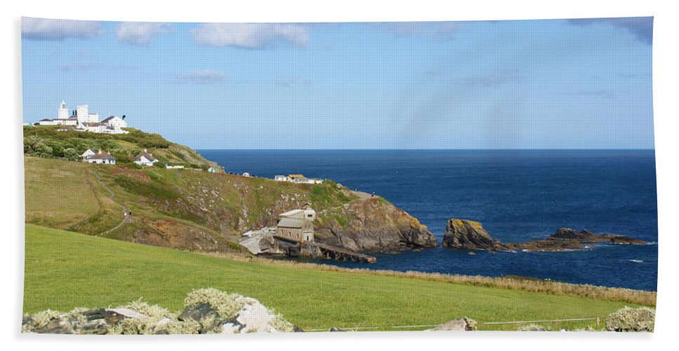 Lizard Hand Towel featuring the photograph The Lizard Cornwall by Terri Waters