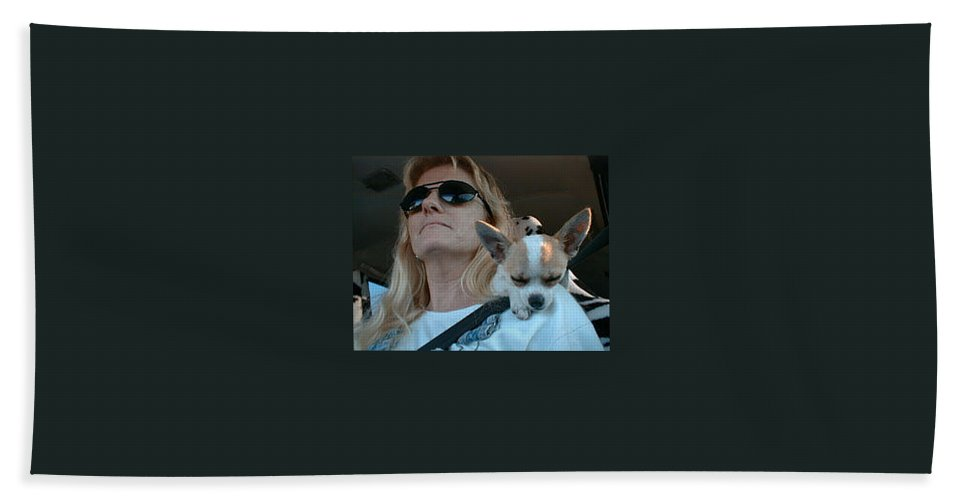 Chihuahua Hand Towel featuring the photograph The Long Ride Home by Leah Delano