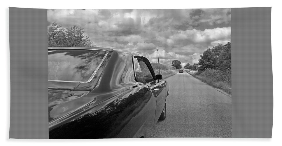 Vintage Car Bath Sheet featuring the photograph The Long Road Home - Ford Torino Cobra Jet by Gill Billington