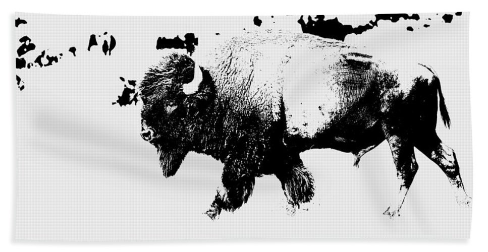 Buffalo Hand Towel featuring the photograph The Long Walk by Lynn Sprowl