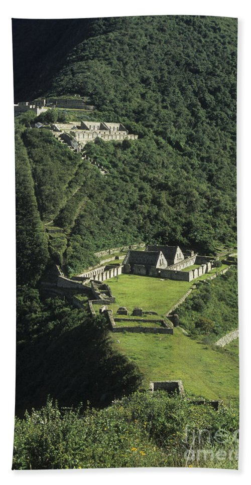 Peru Bath Sheet featuring the photograph The Lost City Of Choquequirao by James Brunker