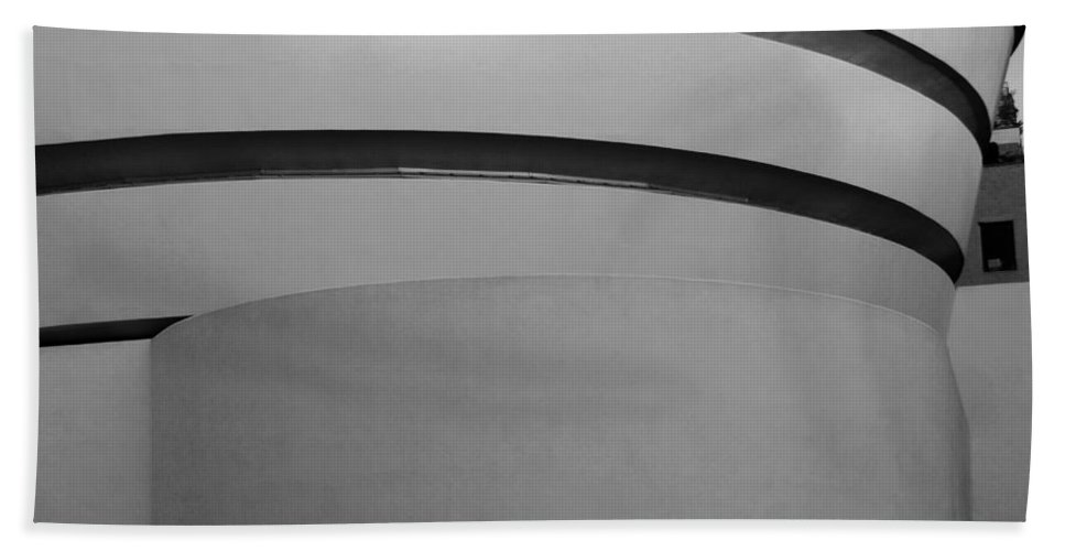 Scenic Hand Towel featuring the photograph The M Museum In Black And White by Rob Hans