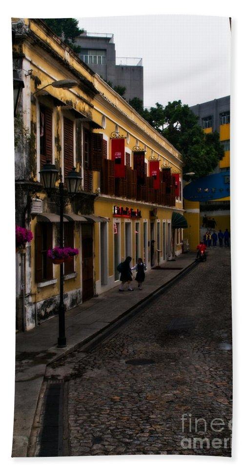 Macau Bath Sheet featuring the photograph The Many Faces Of Macau by Venetta Archer