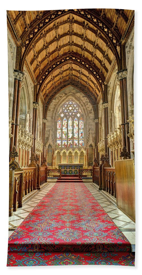 Marble Church Hand Towel featuring the photograph The Marble Church Interior by Mal Bray