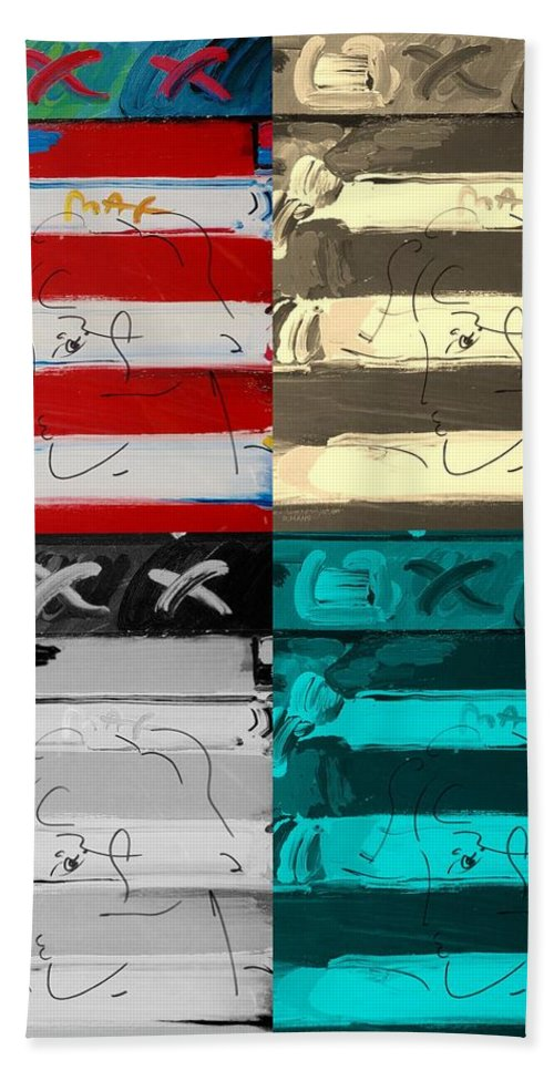 Modern Bath Sheet featuring the photograph The Max Face In Quad Colors by Rob Hans