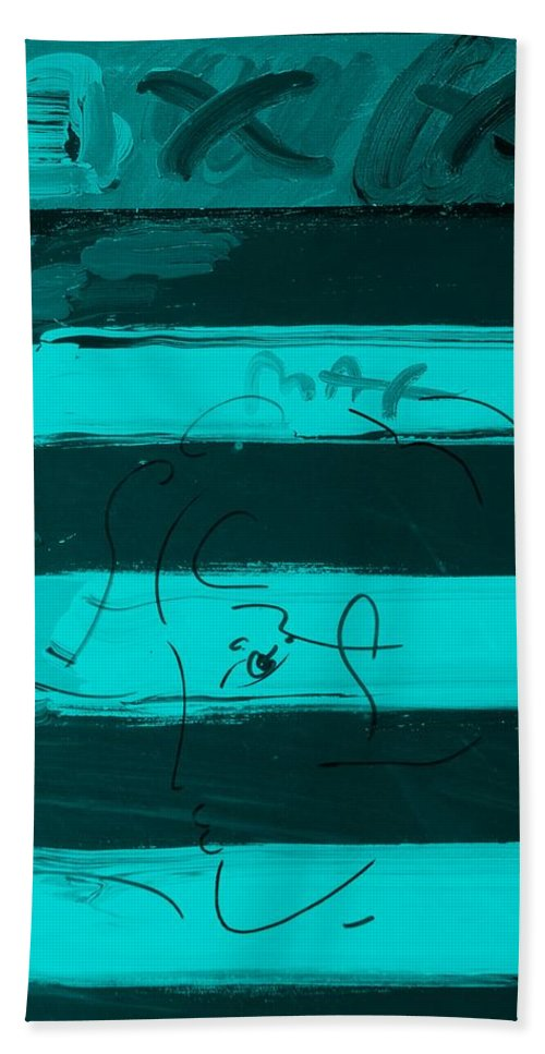 Modern Bath Sheet featuring the photograph The Max Face In Turquois by Rob Hans