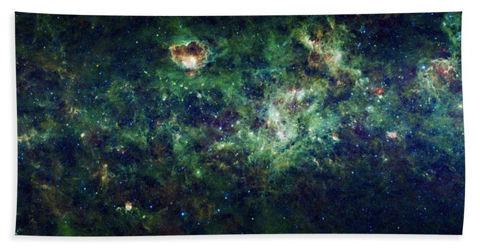 3scape Hand Towel featuring the photograph The Milky Way by Adam Romanowicz