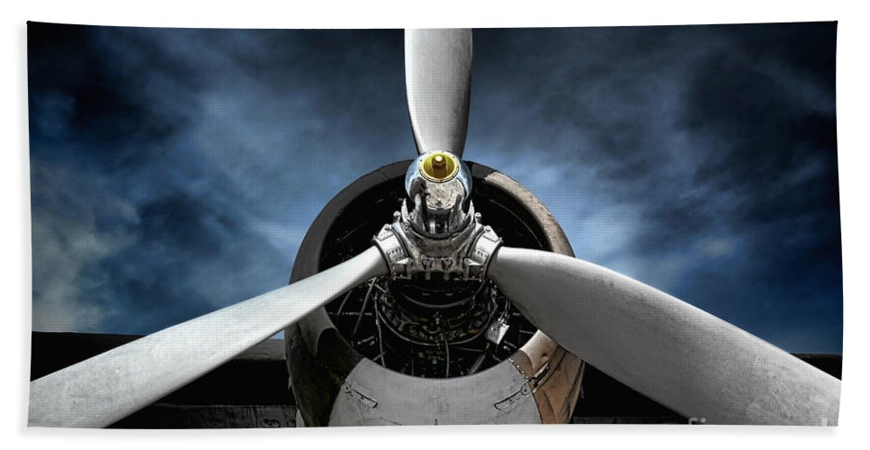 Plane Bath Towel featuring the photograph The Mission by Olivier Le Queinec