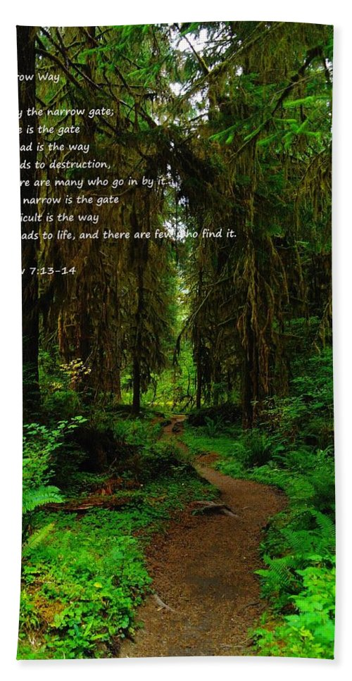 Paths Bath Sheet featuring the photograph The Narrow Way by Jeff Swan