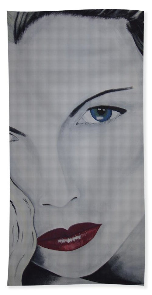 Beauty Hand Towel featuring the painting The Natural by Dean Stephens