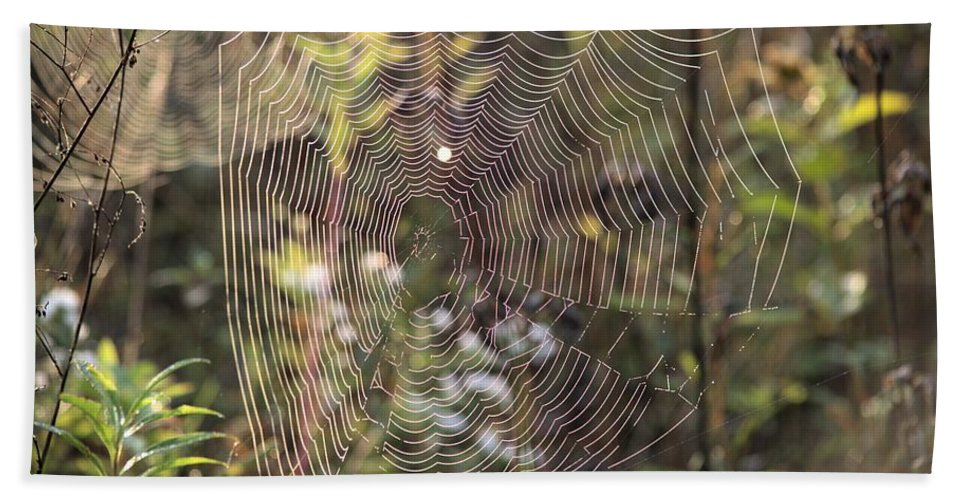 Abstract Hand Towel featuring the photograph The Net by Bonfire Photography