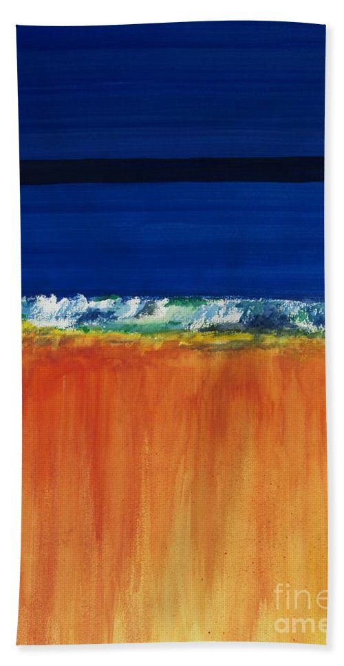 Oceans Hand Towel featuring the painting The Next Big Wave by Frances Marino