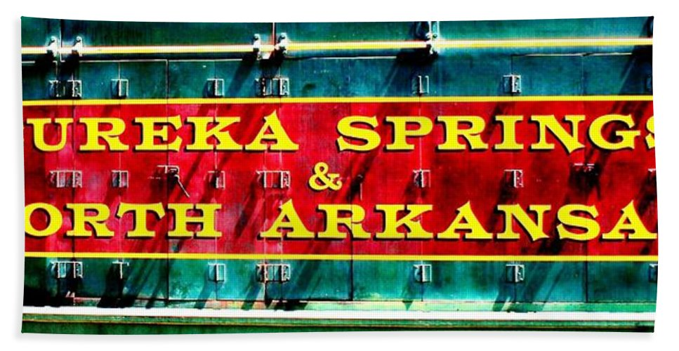 Eureka Springs Hand Towel featuring the photograph The North Arkansas Line by Benjamin Yeager