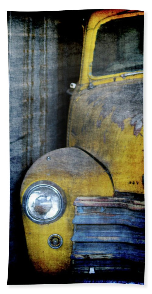 Truck Hand Towel featuring the digital art The Ol Chevy by Ernie Echols