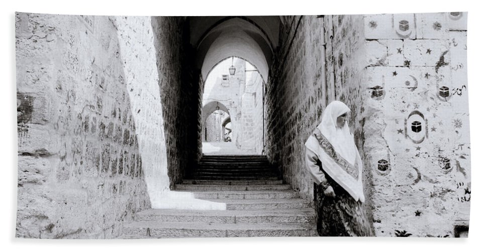 Jerusalem Hand Towel featuring the photograph The Old City Of Jerusalem by Shaun Higson