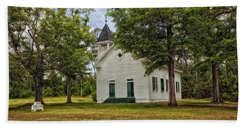 Buena Vista Hand Towel featuring the photograph The Old Country Church by Mountain Dreams