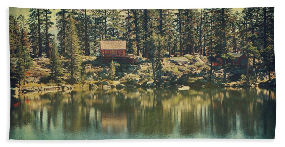 South Lake Tahoe Hand Towel featuring the photograph The Old Days by the Lake by Laurie Search