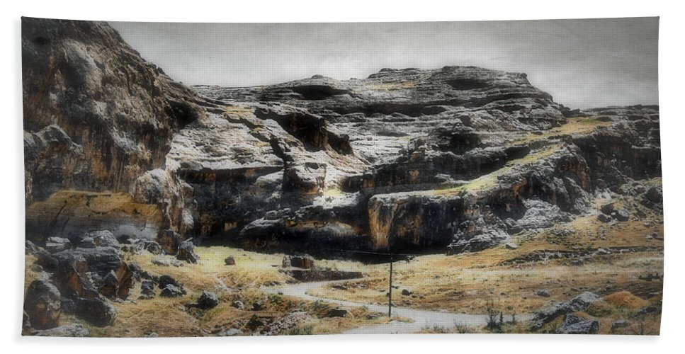 Antique Bath Sheet featuring the photograph The Old Road by Rabiri Us