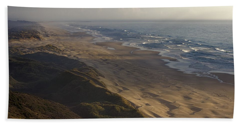 Bath Sheet featuring the photograph The Oregon Coastline by Cathy Anderson