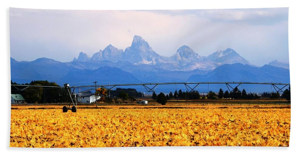 Grand Tetons Bath Sheet featuring the photograph The Other Side by Deanna Cagle