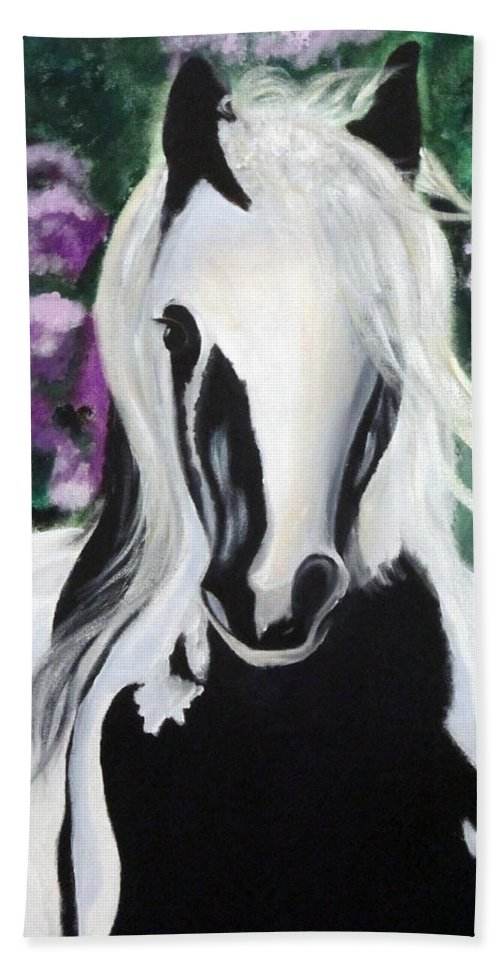 Horse Bath Sheet featuring the painting The Painted One by Lisa Stanley