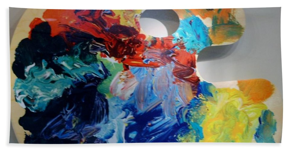 Abstract Hand Towel featuring the photograph The Palet by Rob Hans